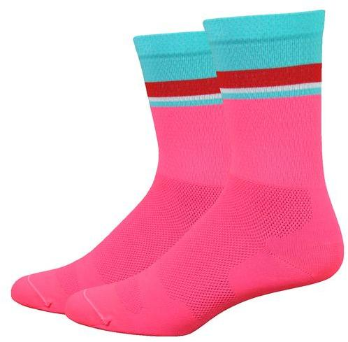 DeFeet Levitator Lite 6-inch Color: Flamingo Pink w/Neptune