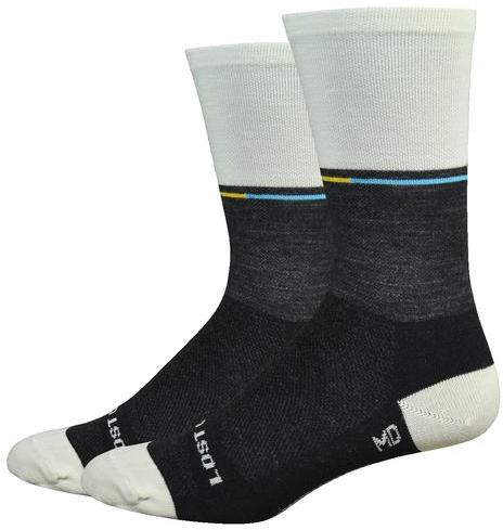 "DeFeet Ornot 6"" Merino Lost Color: Charcoal Wool w/Natural Wool"