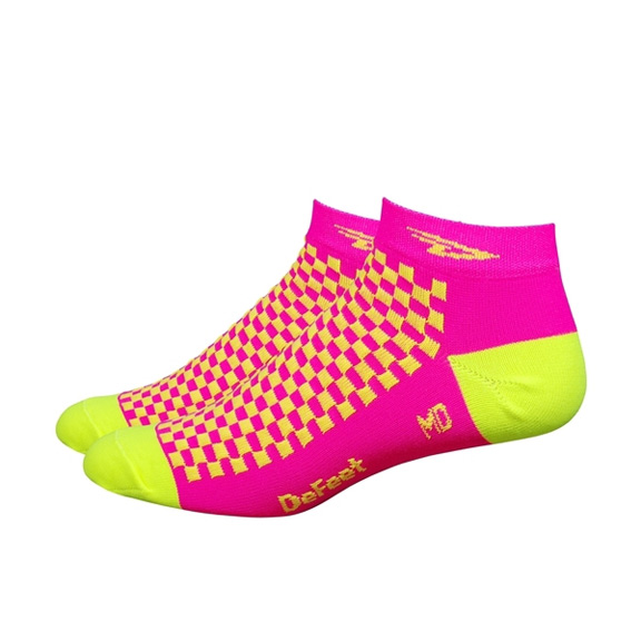 DeFeet Speede D-Logo Color: hi-vis pink/hi-vis yellow
