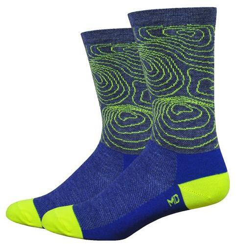 DeFeet Volar Active 6-inch Topo Color: Admiral Blue Wool Comp