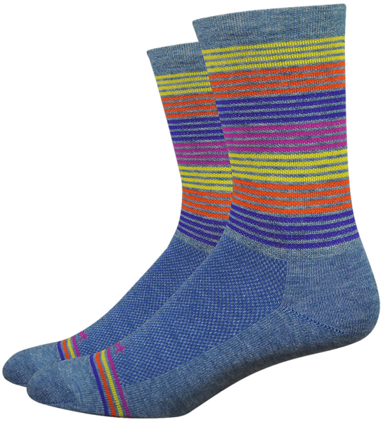 DeFeet Wooleator Comp 6-inch Business Time Socks Color: Blue