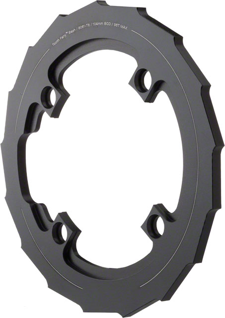 Dimension Bash Guard BCD | Bolt Pattern | Color | Size: 104mm | 4-bolt | Black | 36T Max