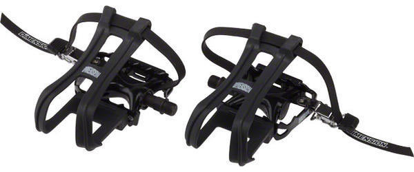 Dimension Combo Compe Pedals/Toe Clip Set Color: Black