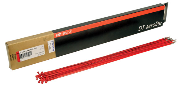 DT Swiss Aerolite 14/19/14g (Red) Spoke Size: 254mm