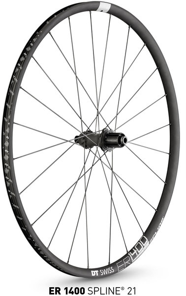 DT Swiss ER 1400 Spline 21 Rear Color: Black