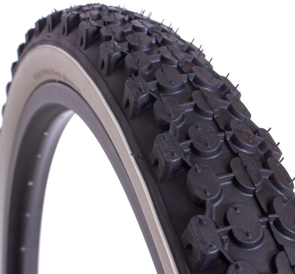 Eastern Bikes E701 26-inch Tire Color: Black / White Sidewall