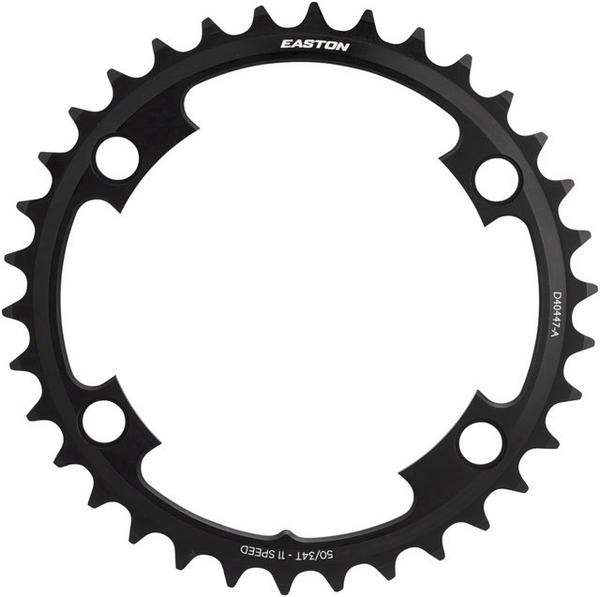 Easton Asymmetric 11-Speed Chainring BCD | Color | Size | Speeds: 110mm | Black | 34T | 11-speed