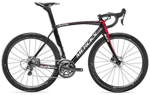 Eddy Merckx EM 525 Endurance Disc Ultegra Color: Black/Anthracite/Red - Glossy