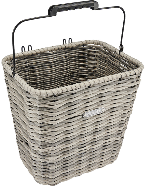 Electra All Weather Woven Pannier Basket Color: Grey
