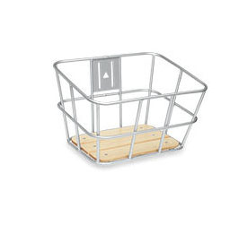 Electra Aluminum-Wood Front Basket Color: Silver