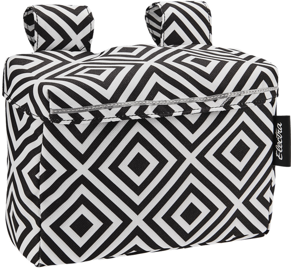 Electra Andi Velcro Handlebar Bag w/Lid Color: Black/White
