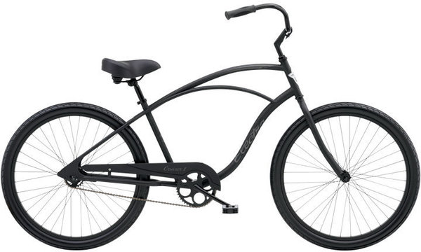 "Electra Cruiser 1 24"" Step-Over Color: Matte Black"