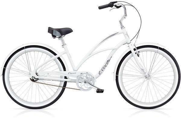 Electra Cruiser Lux 3i Step-Thru Color: White