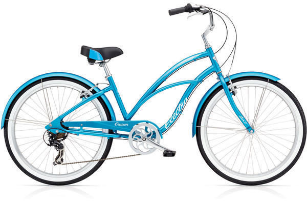 Electra Cruiser Lux 7D Step-Thru Color: Blue Metallic