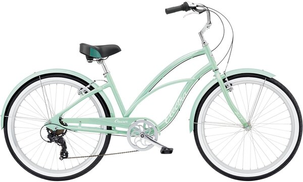 Electra Cruiser Lux 7D Step-Thru Color: Sea Metallic Green