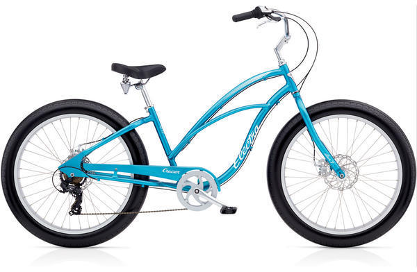 Electra Cruiser Lux Fat Tire 7D Step-Thru Color: Blue Metallic