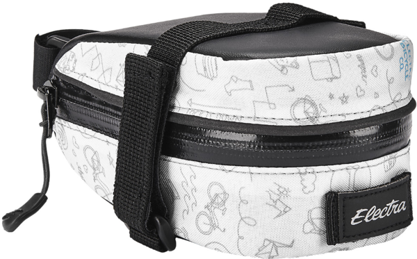 Electra Doodle Saddle Bag Color: White/Light Grey