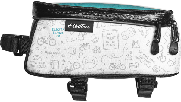 Electra Doodles Phone Bag Color: White/Light Grey