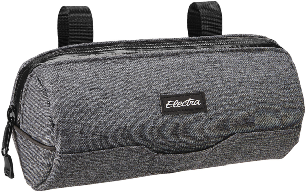 Electra Heather Charcoal Cylinder Handlebar Bag Color: Dark Grey
