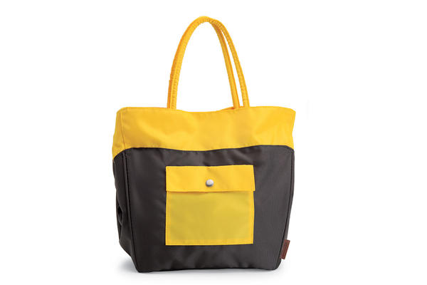 Electra Laguna Tote Color: Charcoal/Yellow