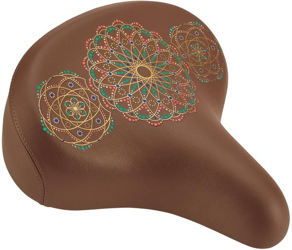 Electra Mandala Bike Saddle Color: Brown