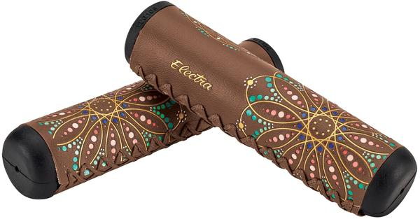 Electra Mandala Long Grips Color: Brown