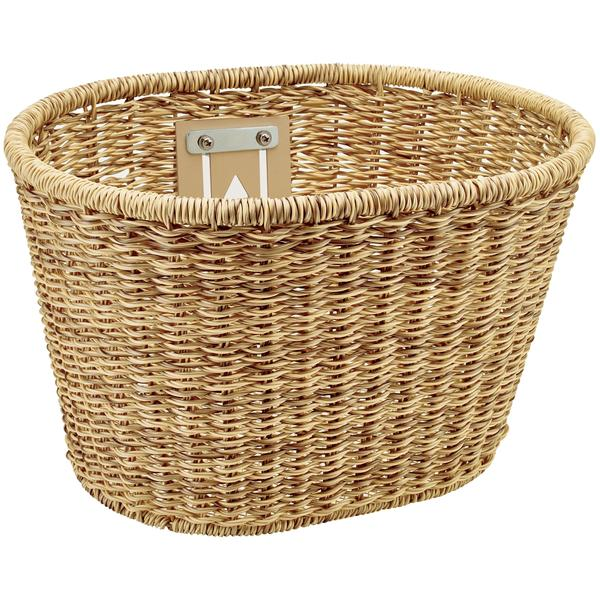 Electra Plastic Woven Basket Color: Light Brown