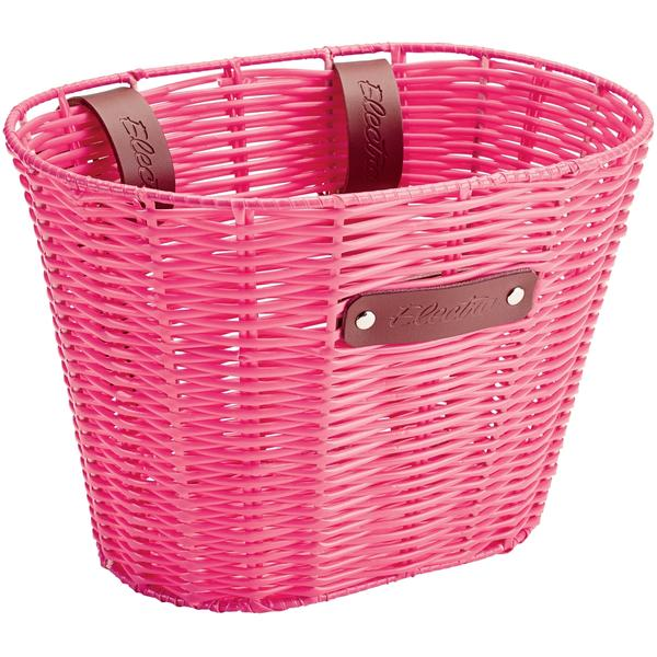 Electra Plastic Woven Small Basket Color: Pink