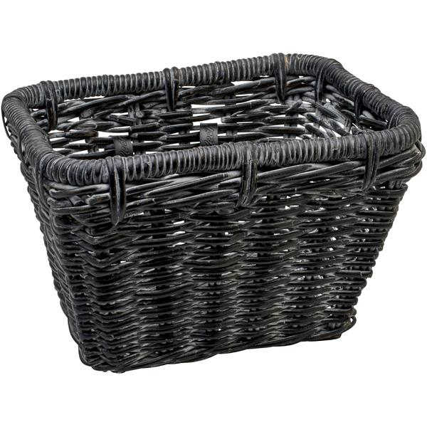 Electra Rattan Basket Color: Black Wash