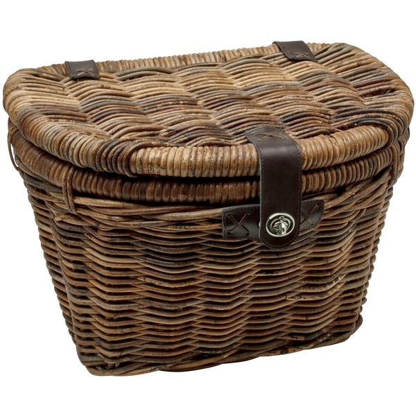 Electra Rattan Basket w/Lid Color: Brown