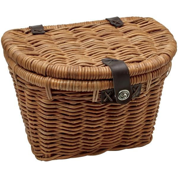 Electra Rattan Basket w/Lid Color: Natural