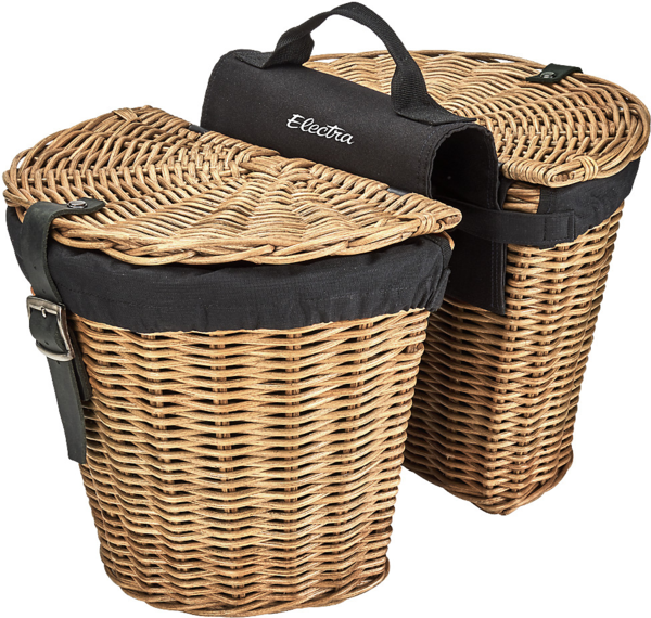 Electra Rattan Pannier Basket Color: Natural