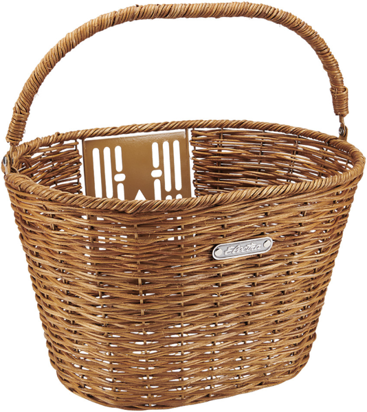 Electra Rattan Quick Release Basket Color: Natural
