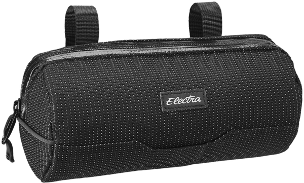 Electra Reflective Charcoal Cylinder Handlebar Bag Color: Reflective