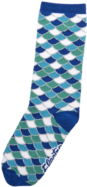 Electra Scales Socks Color: Electra Blue/White