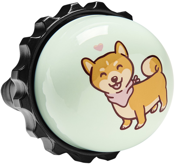 Electra Shiba Twister Bike Bell Color: Mint/Light Brown