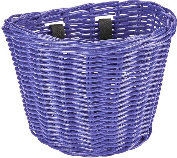 Electra Small Rattan Basket Color: Dark Purple