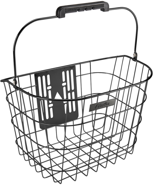 Electra Stainless Wire Front QR Basket Color: Black