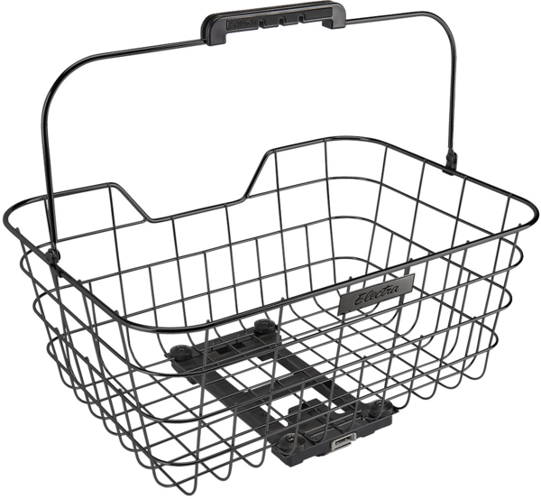 Electra Stainless Wire MIK Rear Basket Color: Black