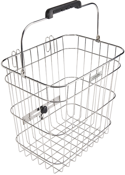 Electra Stainless Wire Pannier Basket Color: Polished Silver