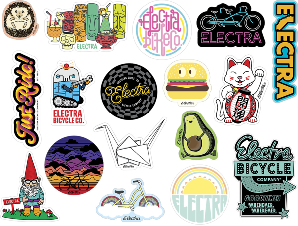 Electra Sticker Pack Color: Electra White