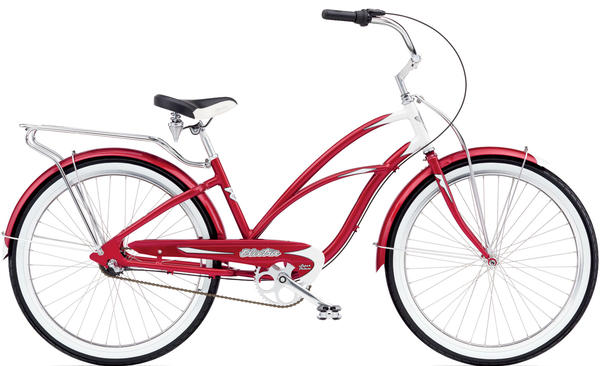 Electra Super Deluxe 3i Ladies Color: Candy Red/White