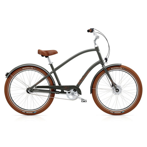 Electra Townie Balloon 3i EQ Color: Army Grey