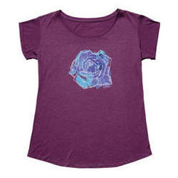 Electra Rose Boyfriend T-Shirt - Women's Color: Plum
