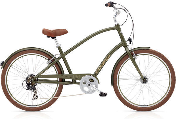 Electra Townie Original 7D EQ Step-Over Color: Matte Khaki