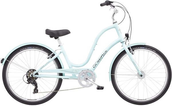 Electra Townie Original 7D EQ 24-inch Step-Thru Color: Arctic Blue