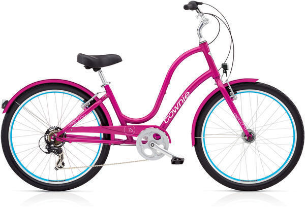 Electra Townie Original 7D EQ Step-Thru Color: Raspberry Metallic