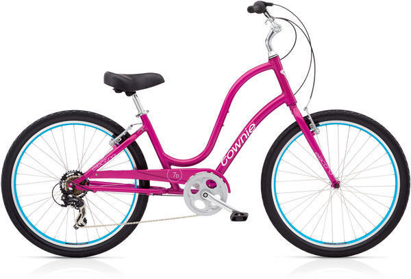 Electra Townie Original 7D Step-Thru Color: Raspberry Metallic