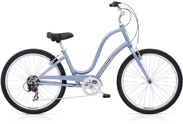 Electra Townie Original 7D Step-Thru 24-inch Wheels Color: Icy Blue