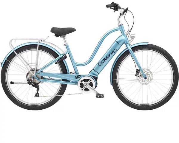 Electra Townie Path Go! 10D Step-Thru Color: Aqua Metallic